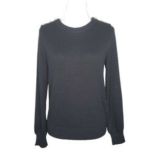 J. Crew Crewneck Jeweled Buttons Pullover Sweater